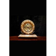 Art Deco onyx stone table clock