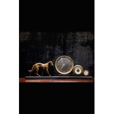 Art Deco clock with Doberman figure