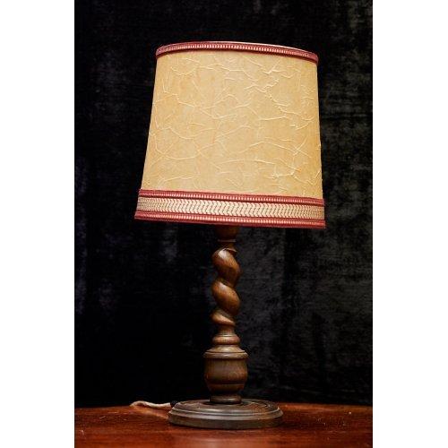 Vintage style oak table lamp