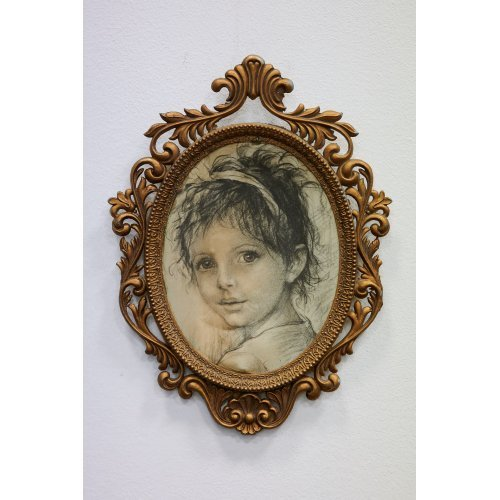 Miniature portrait of a girl