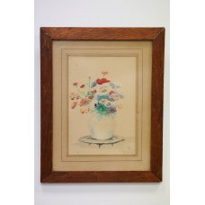 "Original watercolor ""Poppies"" by Berger Traat"