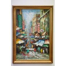 """Original oil work """" Chinatown"""""""