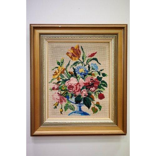 """Framed tapestry """"Flowers"""""""