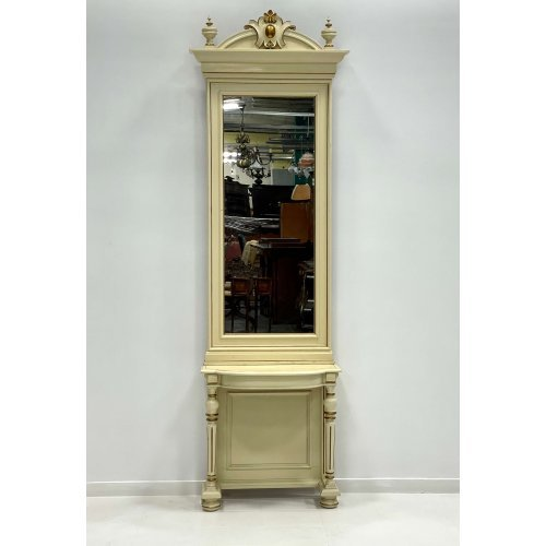 Console with mirror