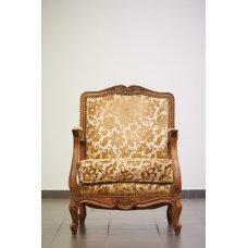 Louis XV-style, antique mahogany chair
