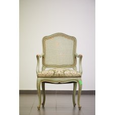 Antique chair with rattan