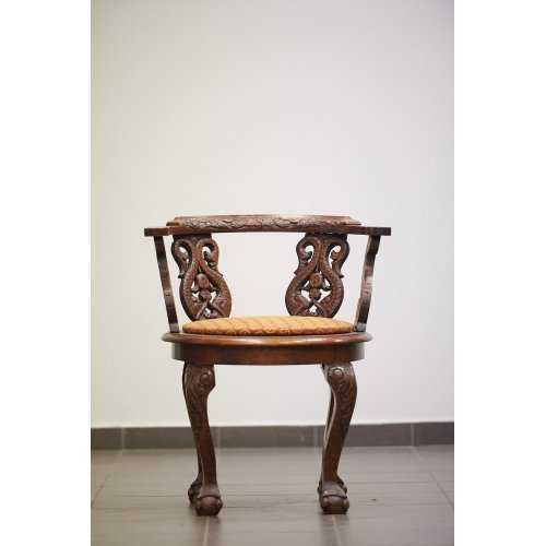 Antique oak armchair in the Chippendale style