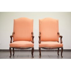 Antique pair armchairs made of Walnut