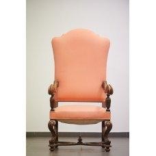 Antique walnut armchair