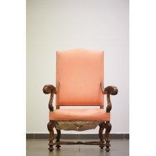 Antique massive Walnut armchair