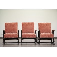 Antique set of armchairs made of Oak