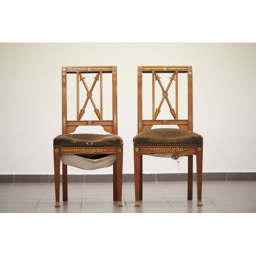 Empire style pair chairs