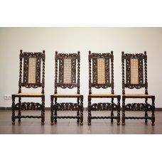 Antique baroque chairs (4 pcs)