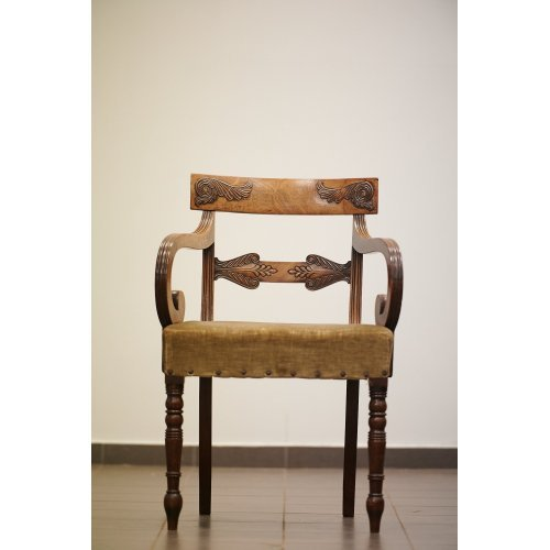 Antique mahogany armchair