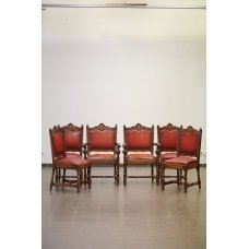 Antique set - 2 armchairs, 4 chairs