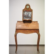 Antique rosewood and mahogany secretary