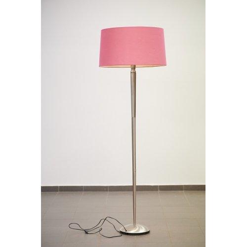 Floor lamp with metal material leg