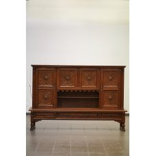Antique oak buffet-cabinet
