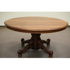 Antique Victorian oak dining table