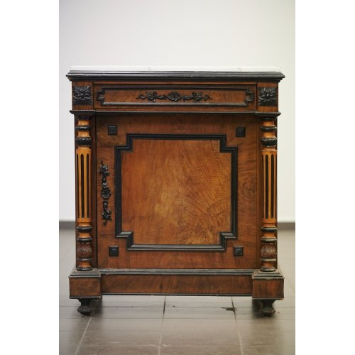 Antique  dresser with wood carving