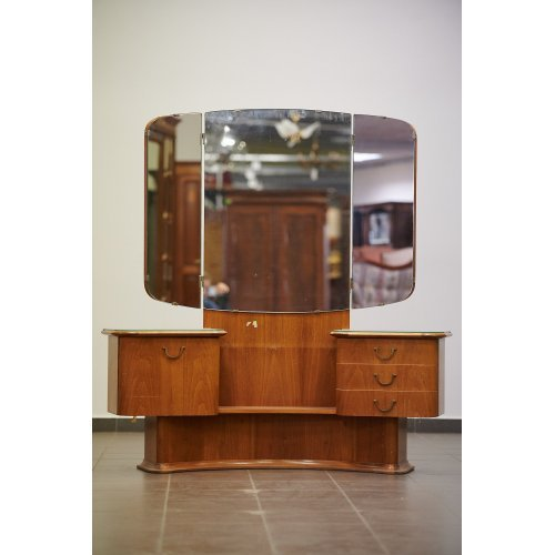 Art-Deco mahogany cabinet with mirror