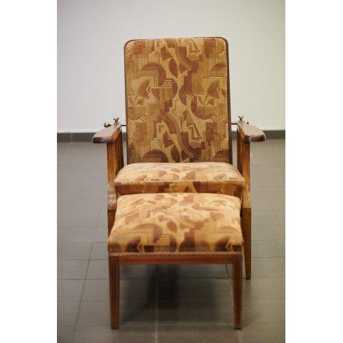 Art-Deco folding armchair
