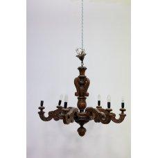 Antique oak chandelier