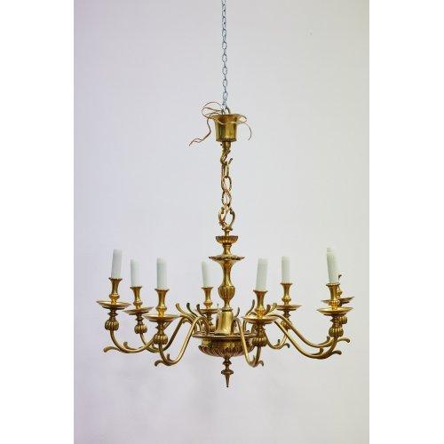 Antique chandelier brass, bronze, gilding