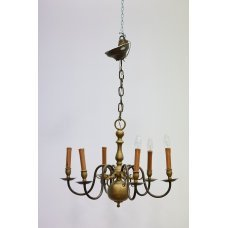 Antique chandelier in the mid century modern style