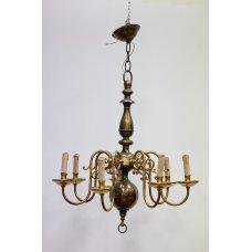 Antique bronze, brass chandelier