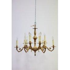 Antique Rococo chandelier made of bronze