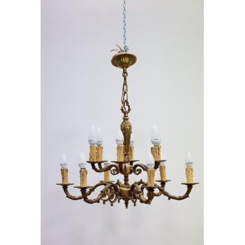 Antique, bronze chandelier