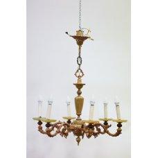 Antique bronze chandelier with Onyx elements
