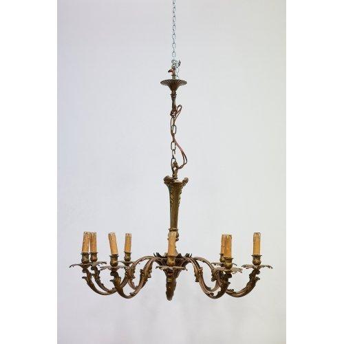Antique brass and bronze chandelier