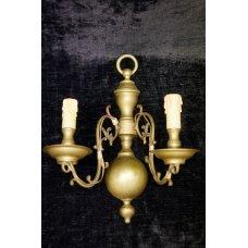 Vintage wall light of brass