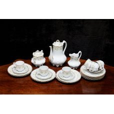 Coffee set of porcelain for 6 persons