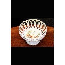 Porcelain fruit bowl hand-painted