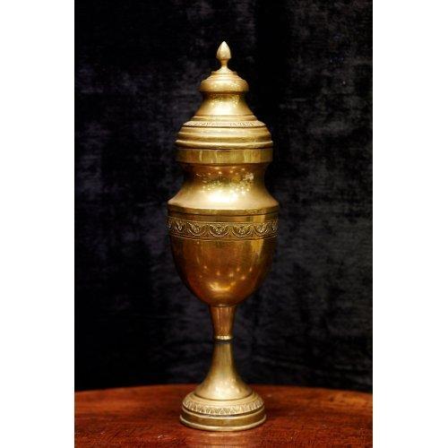 Antique brass urn of oriental style
