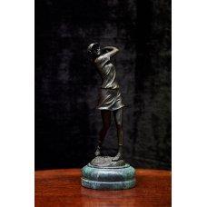 "Art Deco bronze sculpture ""Tennis player"""