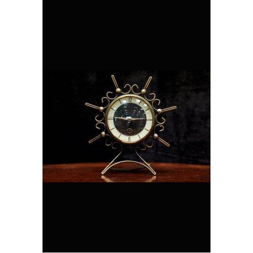 Art Deco table clock, metal