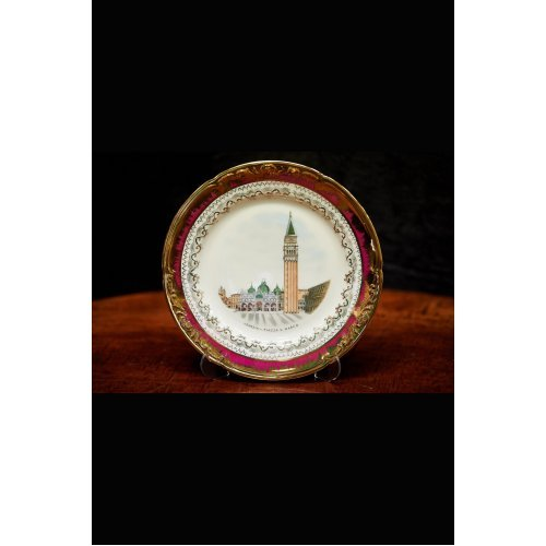 Porcelain dish with Venetian view