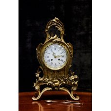 Table clock of Rococo style, bronze