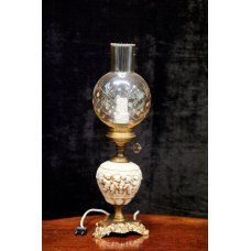 Table lamp of Vintage style with metal and ceramic elements