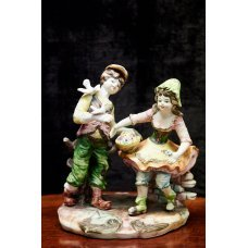 "Ceramic figure ""Girl With Boy"""