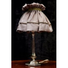 Vintage style table lamp with metal finish