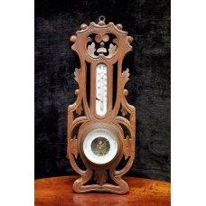 Antique mahogany barometer