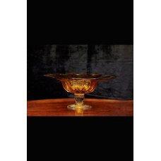 Murano orange glass dish