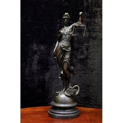Mayer bronze sculpture with marble base