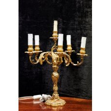"""Rococo-style bronze table lamp """"Candlestick"""""""
