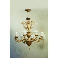 Rococo style gilded bronze chandelier